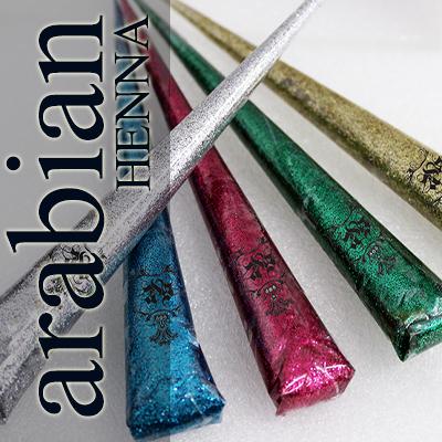 Arabian Henna Glitter Cone