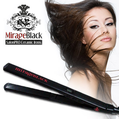 The MirageBlack Ceramic & Tourmaline Hair Straighteners