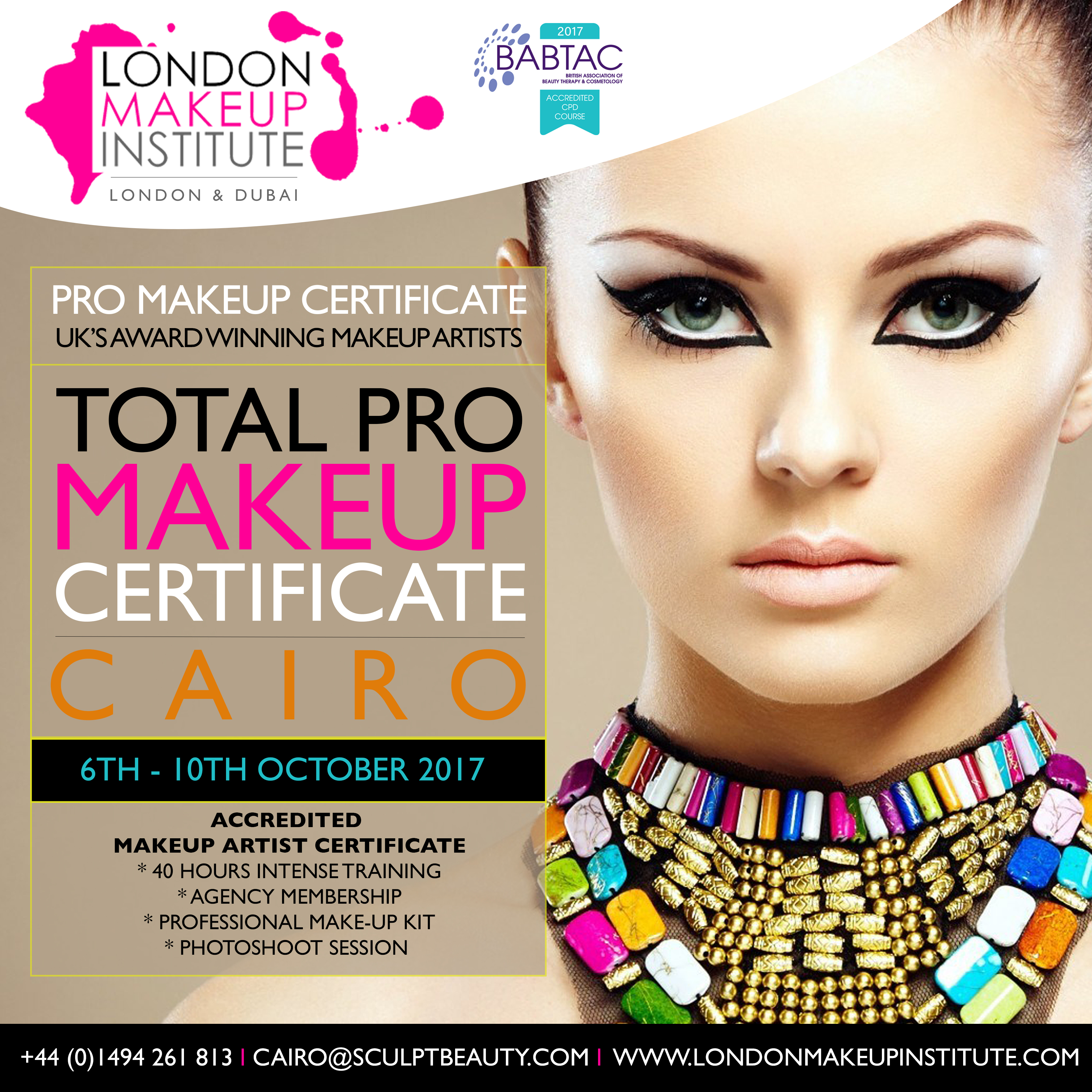 Cairo Total Pro Makeup Artist Course