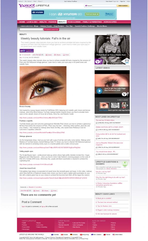 Sculpt Beauty Featured On Yahoo Beauty